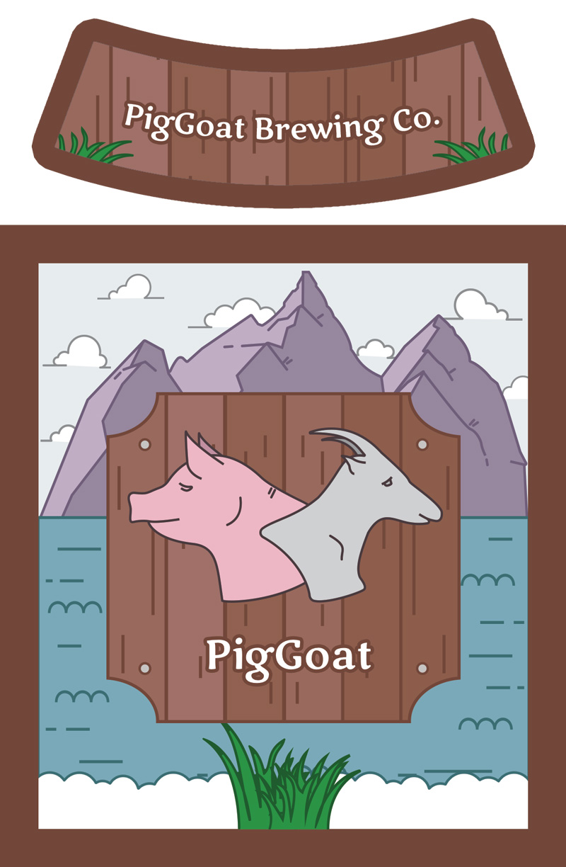 Piggoat label